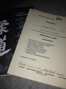 Diplom på genomförd kurs